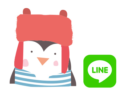 Little French Pingu Line Sticker